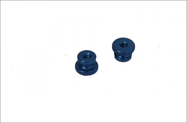 Rändelmuttern Alu blau eloxiert M4