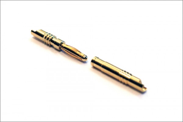 Goldkontaktstecker 2,0 mm