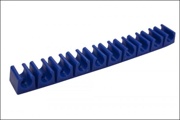 Schlauchklemmleiste 10 Fach klein Blau