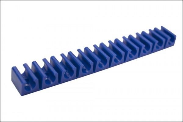 Schlauchklemmleiste 10 Fach groß Blau
